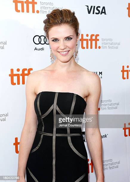 Actress Sara Canning arrives at 'The Right Kind Of Wrong' Premiere during the 2013 Toronto International Film Festival at Roy Thomson Hall on...