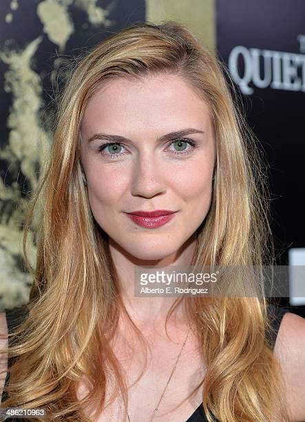 Actress Sara Canning arrives to the Los Angeles Premiere of Lionsgate Films' The Quiet Ones at The Theatre At Ace Hotel on April 22 2014 in Los...