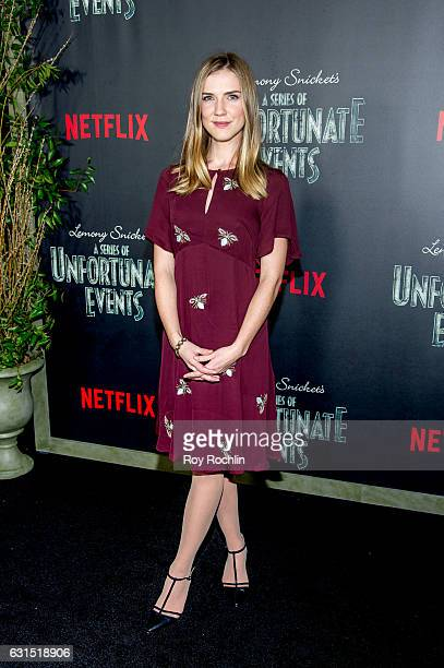 Actress Sara Canning attends 'Lemony Snicket's A Series Of Unfortunate Events' New York Screening at AMC Lincoln Square Theater on January 11 2017 in...