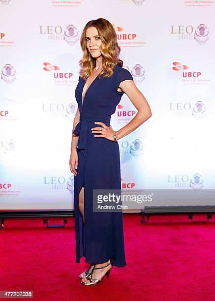 Actress Sara Canning attends the 2015 Leo Awards Gala Awards Ceremony at Fairmont Hotel Vancouver on June 14 2015 in Vancouver Canada