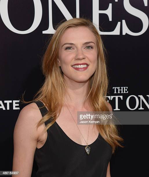 Actress Sara Canning attends the premiere of Lionsgate Films' The Quiet Ones at The Theatre At Ace Hotel on April 22 2014 in Los Angeles California