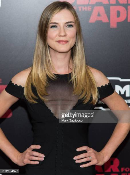 Actress Sara Canning attends the War For The Planet Of The Apes New York Premiere at the SVA Theater on July 10 2017 in New York City