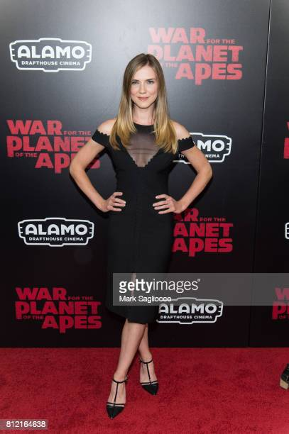 Actress Sara Canning attends the 'War For The Planet Of The Apes' New York Premiere at the SVA Theater on July 10 2017 in New York City