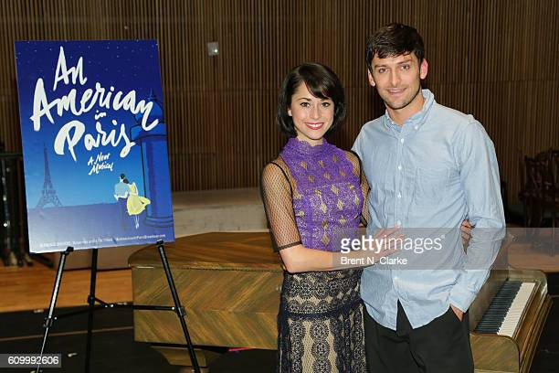 Actress Sara Esty and actor Garen Scribner attend the An American In Paris media day held at the Baryshnikov Arts Center on September 23 2016 in New...