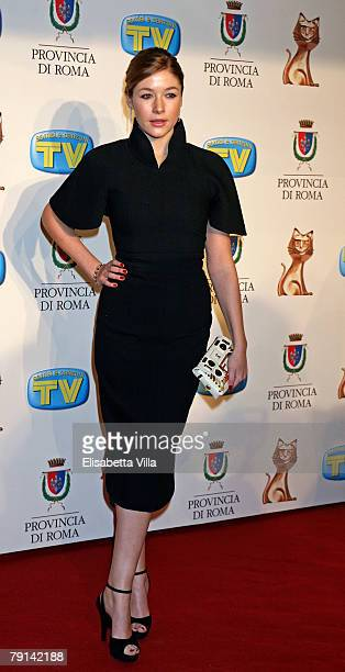 Actress Sara Felberbaum arrives at the Italian TV Awards ''Telegatti'' at the Auditorium Conciliazione on January 20 2008 in Rome Italy