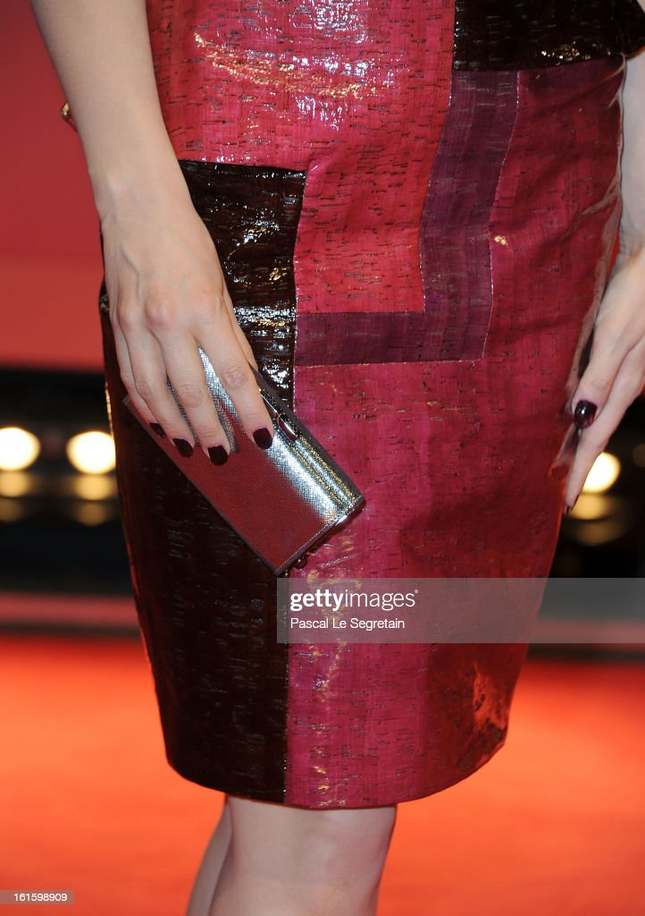 Actress Sara Forestier (handbag detail) attends the 'Camille Claudel 1915' Premiere during the 63rd Berlinale International Film Festival at Berlinale Palast on February 12, 2013 in Berlin, Germany.