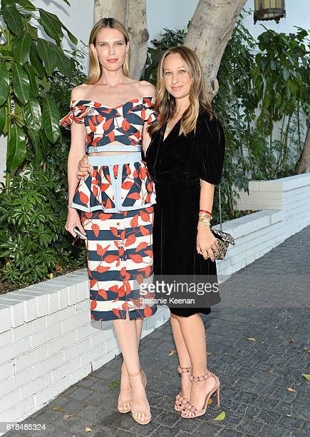 Actress Sara Foster and jewelry designer Jennifer Meyer at the CFDA/Vogue Fashion Fund Show and Tea presented by kate spade new york at Chateau...