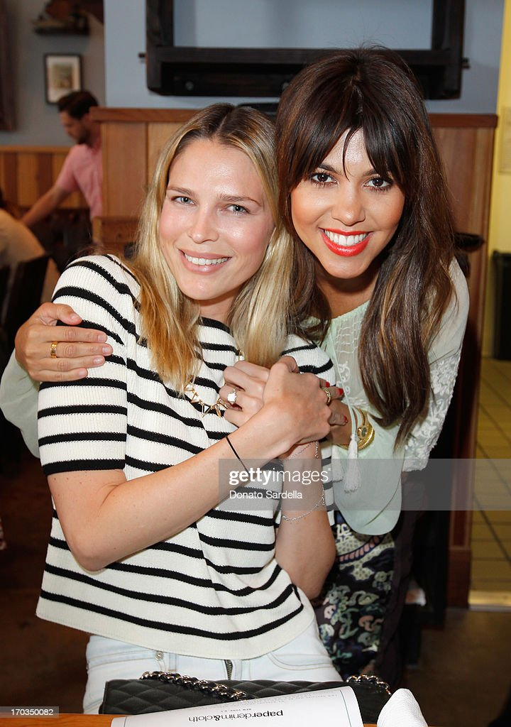 Actress Sara Foster (L) and Tv Personality Kourtney Kardashian attend the Paper Denim & Cloth and Baby2Baby Luncheon at Son Of A Gun on June 11, 2013 in Los Angeles, California.