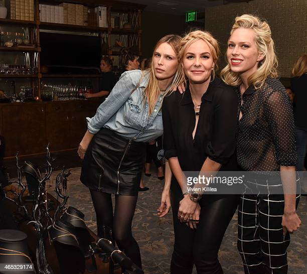 Actress Sara Foster designer Nikki Erwin and actress Erin Foster attend the Established Jewelry By Nikki Erwin Launch Party Hosted By Erin Sara...