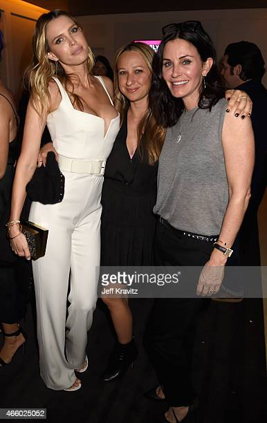 """Actress Sara Foster, jewelry designer Jennifer Meyer and actress Courteney Cox attend VH1's """"Barely Famous"""" premiere screening and party at The..."""