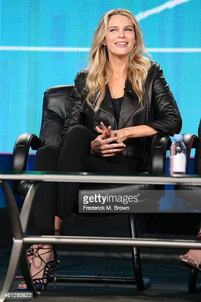 Actress Sara Foster speaks onstage during the ' ' panel at the XX portion of the 2015 Winter Television Critics Association press tour at the Langham...