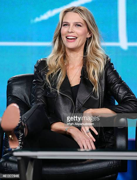 Actress Sara Foster speaks onstage during the Viacom Winter Television Critics Association press tour at The Langham Huntington Hotel and Spa on...