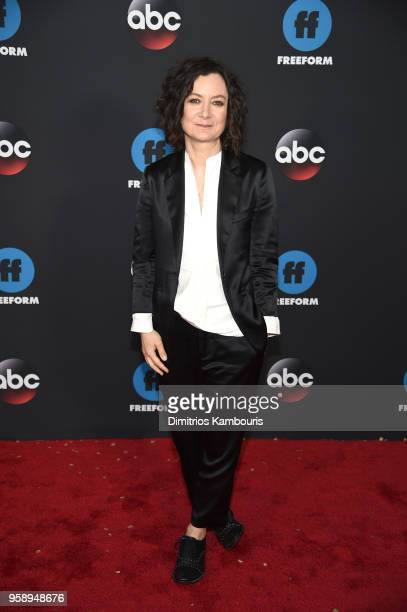 Actress Sara Gilbert attends during 2018 Disney ABC Freeform Upfront at Tavern On The Green on May 15 2018 in New York City