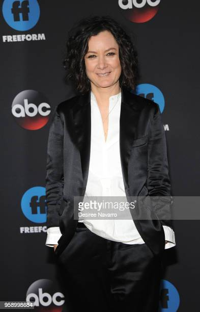 Actress Sara Gilbert attends the 2018 Disney ABC Freeform Upfront on May 15 2018 in New York City