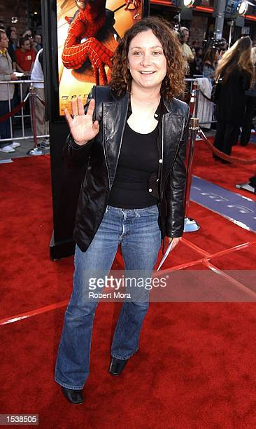 Actress Sara Gilbert attends the premiere of SpiderMan April 29 2002 in Westwood CA