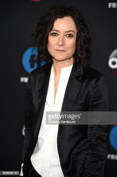 Actress Sara Gilbert of Roseanne attends during 2018 Disney ABC Freeform Upfront at Tavern On The Green on May 15 2018 in New York City