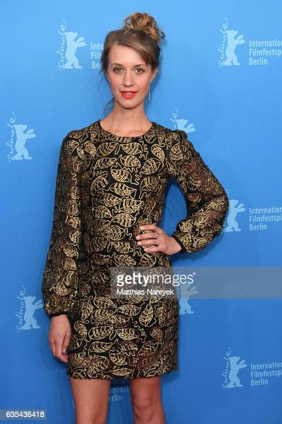 Actress Sara Hjort Ditlevsen attends the 'Below The Surface' premiere during the 67th Berlinale International Film Festival Berlin at Haus Der...