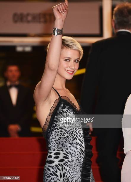Actress Sara Hjort Ditlevsen attends the 'Borgman' Premiere during the 66th Annual Cannes Film Festival at the Palais des Festivals on May 19 2013 in...