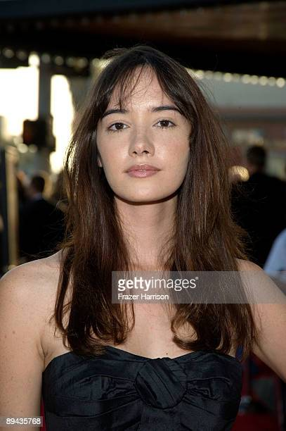 Actress Sara Lane arrives at the Los Angeles screening of Overture Films' Paper Heart held at the Vista Theatre on July 28 2009 in Los Angeles...