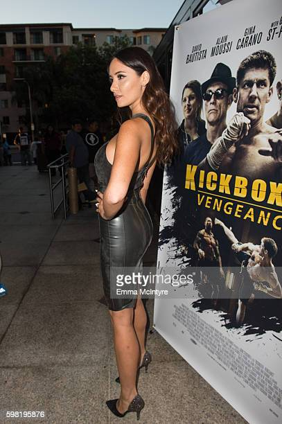 Actress Sara Malakul Lane arrives at the premiere of RLJ Entertainment's 'Kickboxer Vengeance' at iPic Theaters on August 31 2016 in Los Angeles...