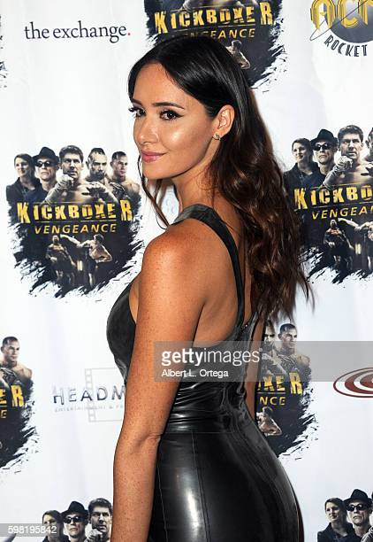 Actress Sara Malakul Lane arrives for the Premiere Of RLJ Entertainment's Kickboxer Vengeance held at iPic Theaters on August 31 2016 in Los Angeles...