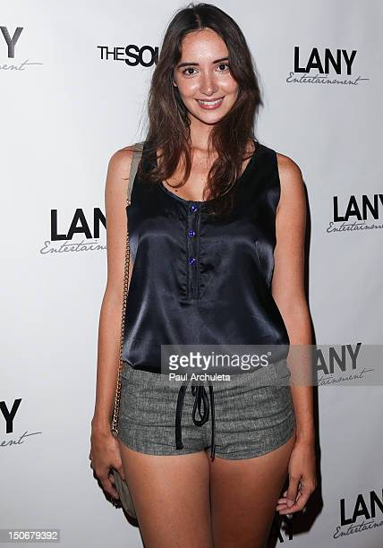 Actress Sara Malakul Lane attends Kristos Andrews red carpet Birthday celebration at Tru Night Club Hollywood on August 23 2012 in Hollywood...