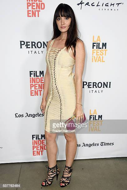 Actress Sara Malakul Lane attends the premiere of Beyond the Gates during the 2016 Los Angeles Film Festival at Arclight Cinemas Culver City on June...