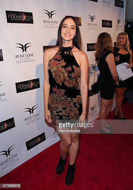 Actress Sara Malakul Lane attends the premiere Pernicious at Arena Cinema Hollywood on June 19 2015 in Hollywood California