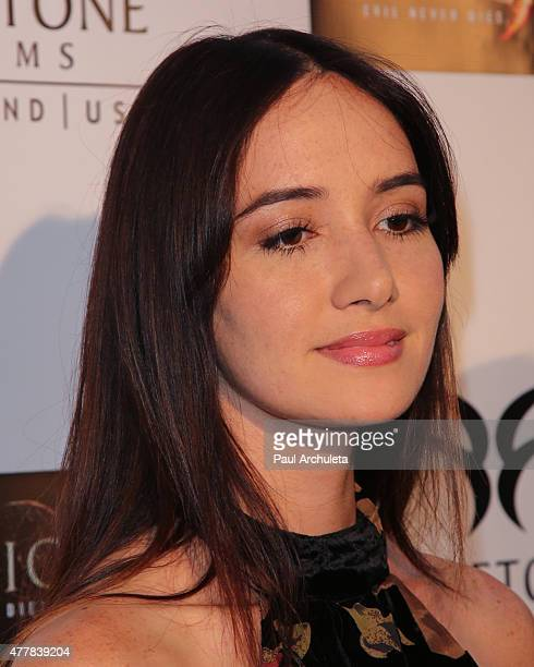 Actress Sara Malakul Lane attends the premiere 'Pernicious' at Arena Cinema Hollywood on June 19 2015 in Hollywood California