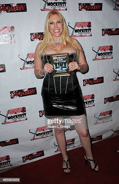 Actress Sara Mayhem attends the ShockFest Film Festival Awards held at Raleigh Studios on January 11 2014 in Los Angeles California