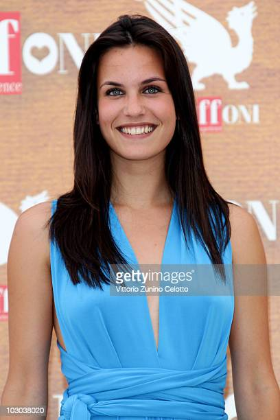 Actress Sara Mollaioli attends a photocall during the Giffoni Experience 2010 on July 22 2010 in Giffoni Valle Piana Italy