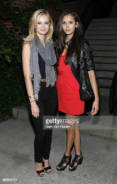 Actress Sara Paxton and actress Nina Dobrev attend an after party following a screening of '500 Days Of Summer' hosted by The Cinema Society with...