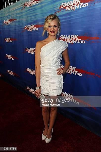 Actress Sara Paxton arrives at 'Shark Night' screening at Universal CityWalk on September 1 2011 in Universal City California
