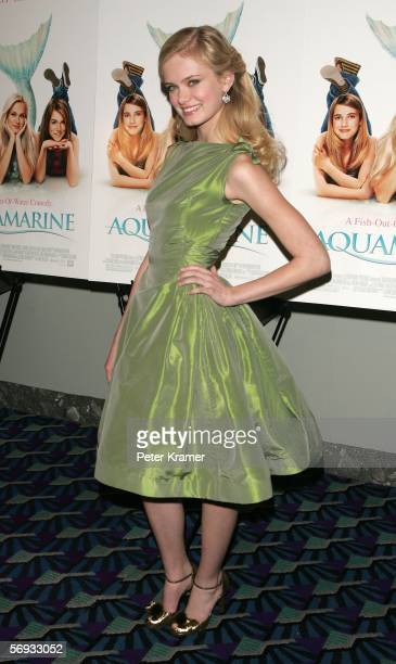 """Actress Sara Paxton attends a screening of 20th Century Fox's """"Aquamarine"""" on February 24, 2006 in New York City."""