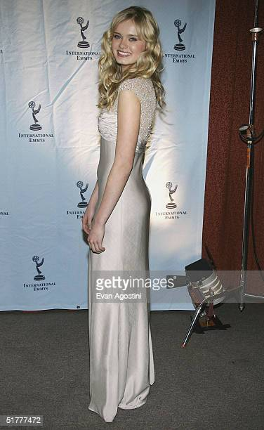 Actress Sara Paxton attends the 32nd International Emmy Awards ceremony at the New York Hilton Hotel November 22 2004 in New York City