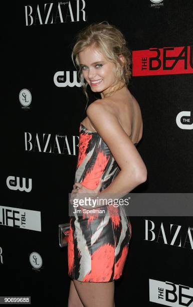 Actress Sara Paxton attends the CW Network celebration of its new series The Beautiful Life TBL at the Simyone Lounge on September 12 2009 in New...