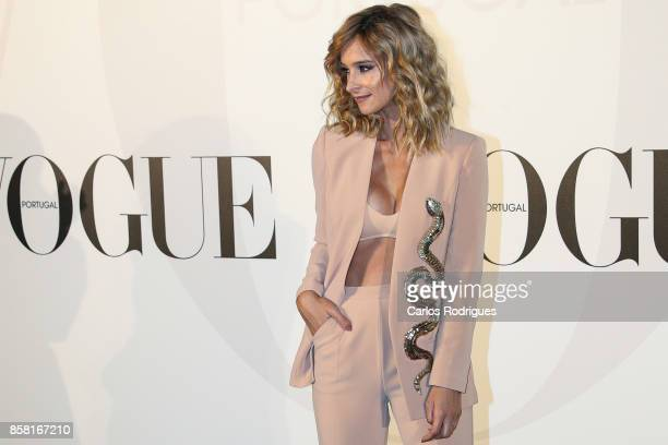 Actress Sara Prata attends the Vogue Portugal Party Photocall on October 5 2017 in Lisbon Portugal