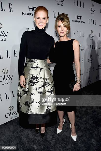 Actress Sara Raftery and ELLE's editorinchief Robbie Myers attend ELLE's 6th Annual Women in Television Dinner Presented by Hearts on Fire Diamonds...