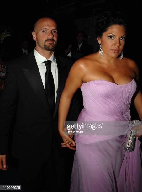 Actress Sara Ramirez and guest attends the 59th Annual Emmy Awards Governors Ball on September 16th 2007 in Los Angeles California