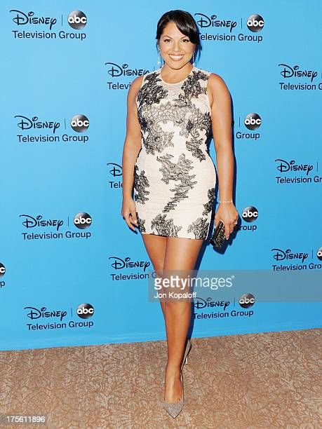 Actress Sara Ramirez arrives at the Disney/ABC Party 2013 Television Critics Association's Summer Press Tour at The Beverly Hilton Hotel on August 4...