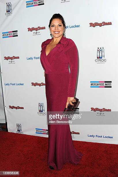 Actress Sara Ramirez arrives at the Rolling Stone 2nd Annual AMA afterparty at Rolling Stone Restaurant And Lounge on November 20 2011 in Los Angeles...