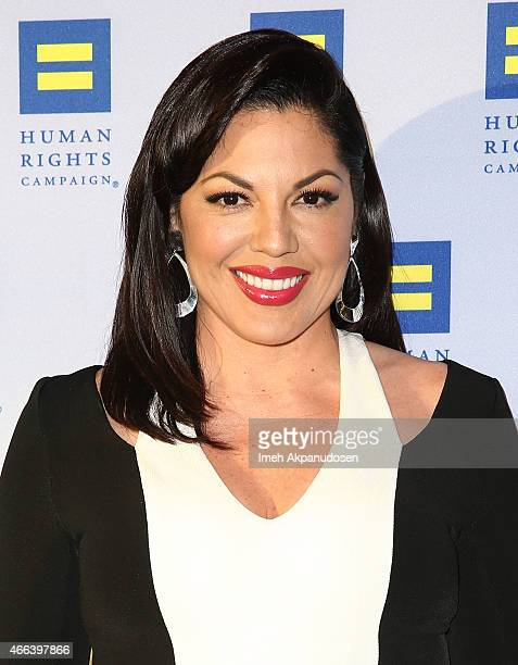 Actress Sara Ramirez attends the 2015 Human Rights Campaign Los Angeles Gala Dinner at JW Marriott Los Angeles at LA LIVE on March 14 2015 in Los...