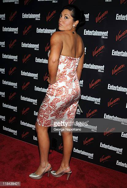 Actress Sara Ramirez attends the Entertainment Weekly Vavoom Annual U'pfront Party at the Bowery Hotel on May 13 2008 in New York City
