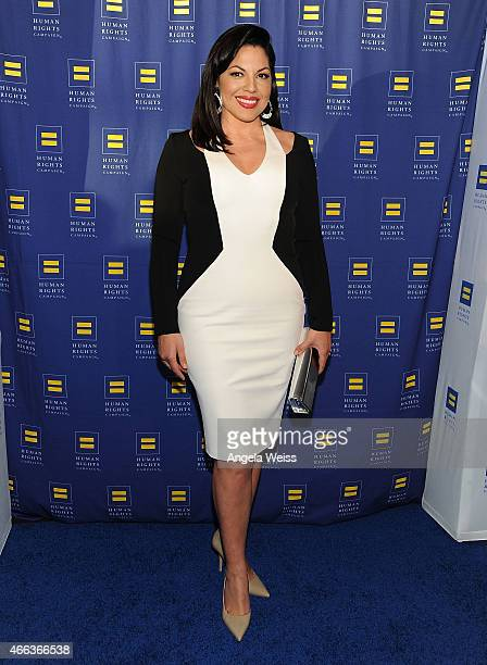 Actress Sara Ramirez attends the Human Rights Campaign Los Angeles Gala 2015 at JW Marriott Los Angeles at LA LIVE on March 14 2015 in Los Angeles...