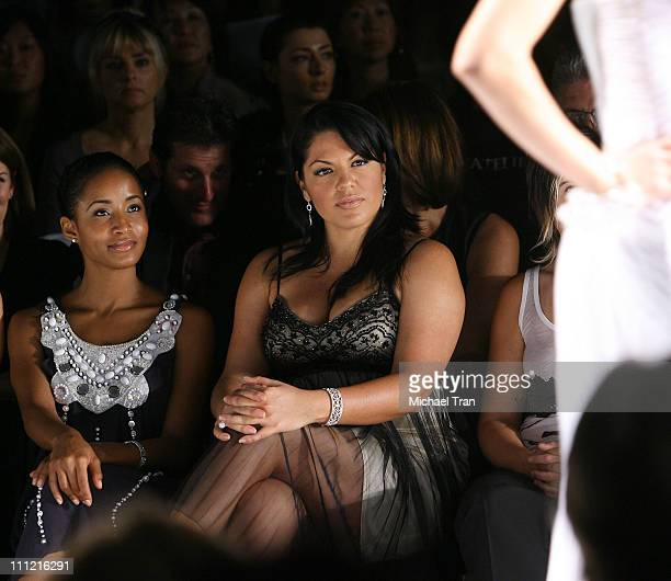 Actress Sara Ramirez frontrow and backstage at Sue Wong Spring 2007 collection during Mercedes Benz Fashion Week Spring 2007 on October 14 2007 in...