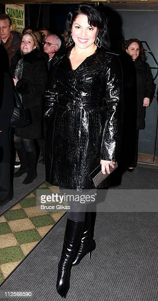Actress Sara Ramirez poses as they arrive at The Opening Night of 'Sunday in The Park With George' at Studio 54 on February 21 2008 in New York City