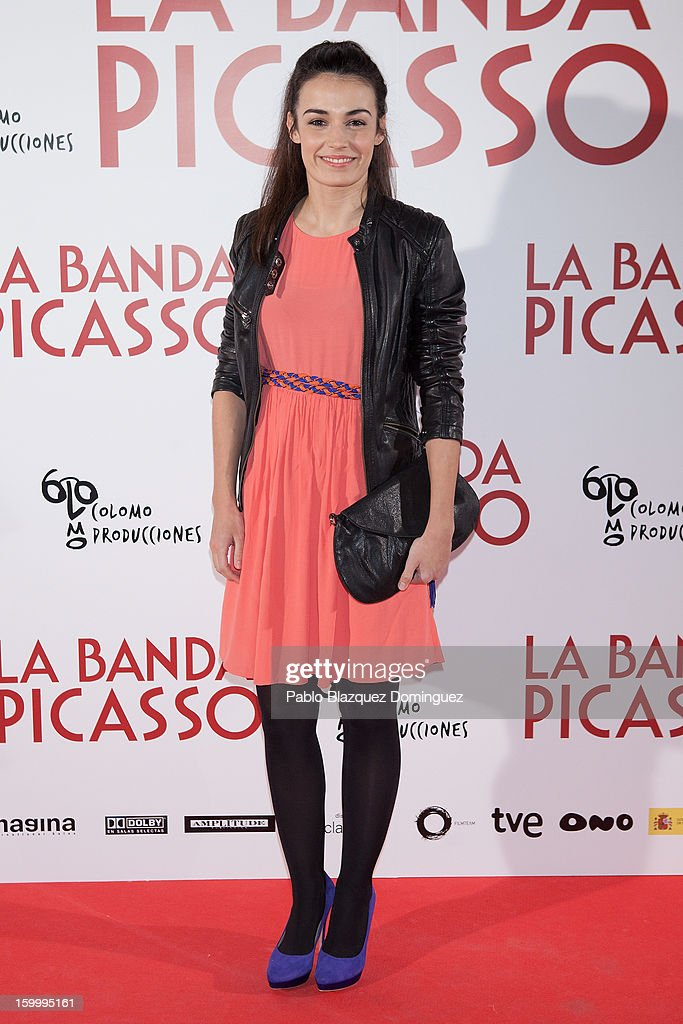 Actress Sara Rivero attends 'La Banda Picasso' Premiere at Capitol Cinema on January 24, 2013 in Madrid, Spain.