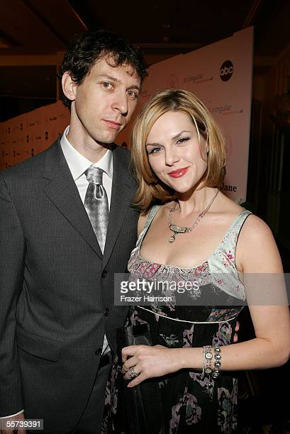 Actress Sara Rue and husband Mischa Livingstone arrive at the inaugural ball and premiere of ABC's CommanderinChief held at The Regent Beverly...