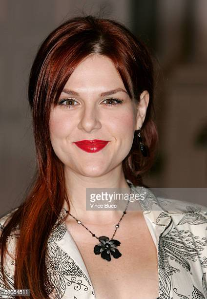 Actress Sara Rue arrives at the ABC's Winter Press Tour Party on Wisteria Lane on January 23 2004 in Universal City California