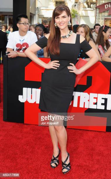 Actress Sara Rue arrives at the Los Angeles Premiere 22 Jump Street at Regency Village Theatre on June 10 2014 in Westwood California